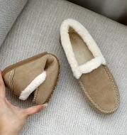 Plus Fleece Warm Tendon Flat Cotton Shoes