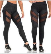Running Sports Fitness Thigh Two-stage Mesh Yoga Pants