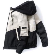 Fashion Printed Jacket Men Loose Hooded Top