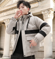 Korean Style Short Padded Jacket Men's Thick Warm All-Match Cotton Coat