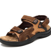 Men's Sandals Leather Beach Top Layer Leather Men's Outdoor Casual Shoes