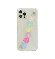 Laser rabbit chain mobile phone case