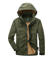 Winter Plus Velvet Thick Loose Men's Multi-Pocket Jacket