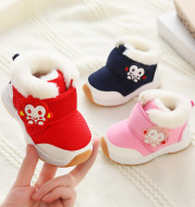 Baby Non-Slip Soft Bottom Boys And Girls Baby Shoes Plus Velvet Thick Cotton Shoes