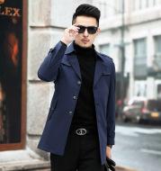 Autumn Windbreaker Men's Mid Length Business Casual Plus Size