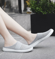 Summer New Style Women's Slippers Baotou Half Tow Bird's Nest Mesh Hole Shoes