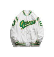 Retro Color Block Embroidery Baseball Uniform Jacket Men