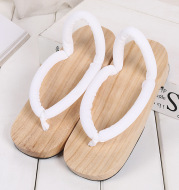 Cosplay Wood Sandals And Slippers Round Head Clogs