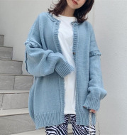 Korean Style Ripped Knitted Sweater Women