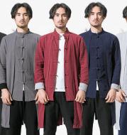Windbreaker Men's Mid-Length Spring and Fall Coat