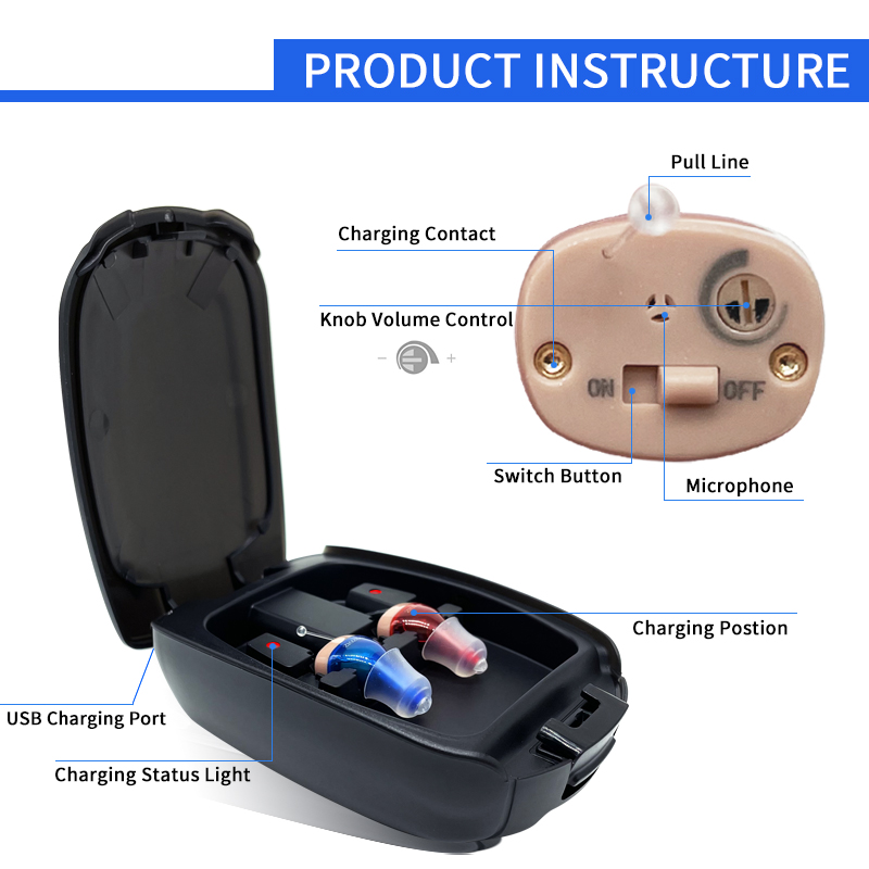 New Rechargeable Hearing Aid Sound Amplifier For The Elderly