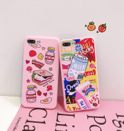 Cartoon Pink Small Fresh Strawberry Mobile Phone Case