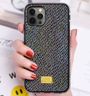 New Mobile Phone Case With Skin Flashing Diamond Shell Snake Pattern