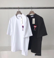 Round Neck Cotton Men's And Women's Short Sleeves
