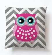 Owl Geometric Simple Animal Cute Cartoon Sofa Pillowcase