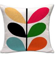 Simple Petals Four-Leaf Clover Cotton And Linen Sofa Cushion Cover