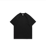 Men's Short-sleeved Solid Color Pure Cotton Round Neck Hip-hop Women's T Bottoming Shirt