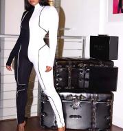 Fashion Sports Stitching Skinny Jumpsuit