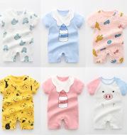 Newborn Baby Clothes Summer Romper Pajamas