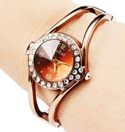 Rose Gold Simple Fashion Ladies Bracelet Watch