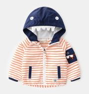 Boys Children's Striped Trendy Monster Jacket Hoodie