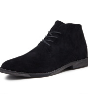 Trendy Men's Boots British Men's Shoes Pointed Toe Leather Boots