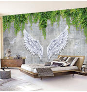 5d Mural 8d Beauty Salon Front Desk Live Room Net Red Wallpaper