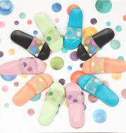Non-slip Cute Cartoon Polka Dot Transparent Slippers