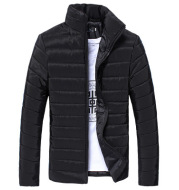Men's Slim-fit Stand-collar Cotton-padded Jacket To Keep Warm