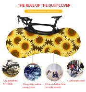 Customized Road Bicycle Protective Gear Anti-dust Wheels Frame Cover