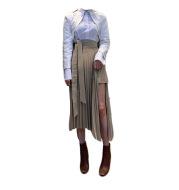 Irregular High Waist Pleated Skirt Women