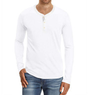Large Size Men's European And American Long Sleeved Round Neck  T Shirt