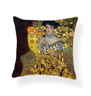 African Women's Ethnic Style Pillow Abstract Square Coreless Cushion Cover