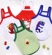 Pet  Avocado Camisole Mesh Breathable Clothes
