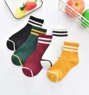 Children's Tube Socks Cute Striped Baby Bear Floor Socks