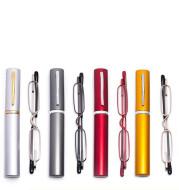 Men and Women Light Portable Fashion Pen Holder Resin Elegant old Glasses