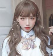Humming Wig Female Long Hair Long Curly Hair Naturally Realistic Full Hair Set Net Red Girl Daily Fake Hair