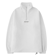 Toolkit Style Semi-turtleneck Standing Collar Hoodie