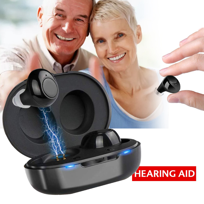 Sound Rechargeable Hearing Aid Headset With adjustable amplification mode and active noise