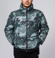 Fitness Brothers Zipper Fashion Casual Loose Padded Jacket