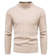 Solid Striped Men's Sweater Base