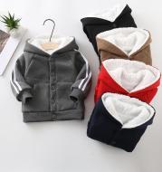 Autumn And Winter Children's And Women's Clothing Cardigan Jacket Lamb Velvet Sweater