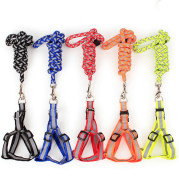 Dog Night Reflective Traction Rope Braided Chest Strap