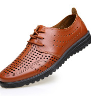Sandal Hollow Leather Shoes For Men's Casual Sandals
