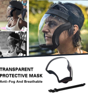 Protective Head Cover Face Shield Full Face Sport Transparent Mask