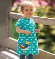 Summer New Style Cotton Short Sleeve Girls Dress