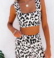 Hot Leopard Print Yoga Pants  Sling Set