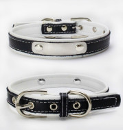 Double Leather Collar With Backing Collar For Dog Leash