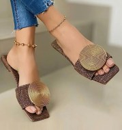 Flat Bottom Hollow Out Casual Sandals And Slippers