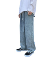 Hong Kong Style Drape Mopping The Floor Old Trousers Casual All-Match